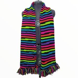 Hand Knit One Of A Kind Unisex Scarf OS